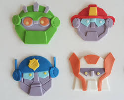 transformers rescue bots 1 edible cake or cupcake topper edible rescue bot transformers birthday party fondant cupcake toppers