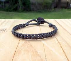 essential oil diffuser jewelry black leather wrap around