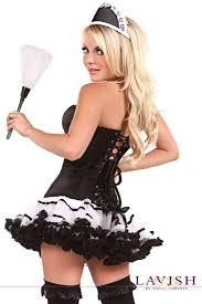 Corset Halloween Costumes Size Size Lavish French Maid Corset Costume