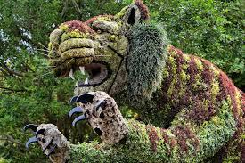Busch Gardens Map Big Cat Bush Sculpture At Busch Gardens In Tampa Florida