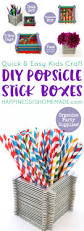 kids craft popsicle stick boxes happiness is homemade