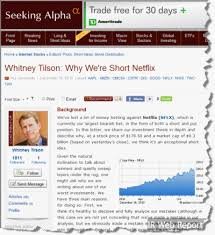 Seeking Netflix Netflix Ceo Responds To Seller In Seeking Alpha Post