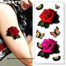 buy red rose tattoo and get free shipping on aliexpress com