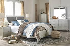 ashley bedroom olivet bedroom 5pc set b560 in silver finish by ashley furniture
