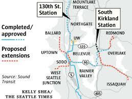 light rail map seattle kirkland seattle light rail stops could up voters for