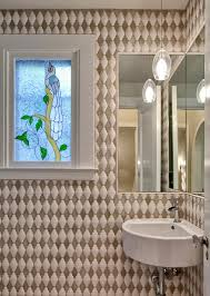 Bathroom Faucets Seattle by Seattle Corner Utility Sink Powder Room Eclectic With Bird Art