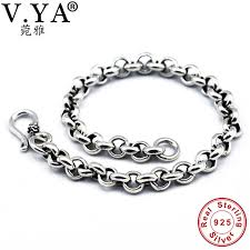 bracelet luxury charms images V ya solid 925 sterling silver men bangles bracelet luxury male jpg