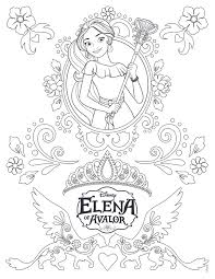 elena of avalor coloring pages getcoloringpages com
