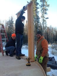raising a yurt in fairbanks