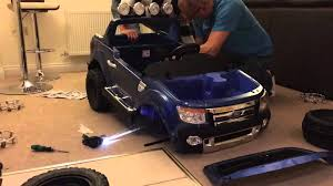 toddler battery car building a ford ranger sit on battery kids toy youtube