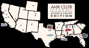 Ft Rucker Map 2017 A U0026m Clubs Tour Coast To Coast