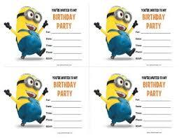 minion birthday invitations blueklip com