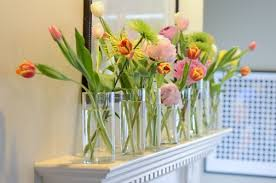 Faux Floral Centerpieces by Collection Of Vases With Assortment Small Room Design Decor Floral