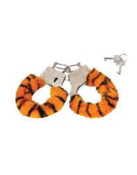handcuffs soft steel fuzzy tiger furry handcuffs hand cuffs
