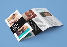 2 fold brochure template psd free accordion 4 fold brochure leaflet mockup psd templates