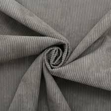 Gray Velvet Upholstery Fabric Luxury Corduroy Needlecord Stripe Cord Velvet Curtain Cushion
