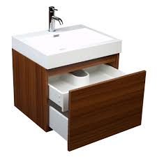 23 inch modern bathroom vanity single sink teak tn a600 tk