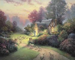 Thomas Kinkade Clocktower Cottage by 290 Best Thomas Kinkade Images On Pinterest Thomas Kinkade