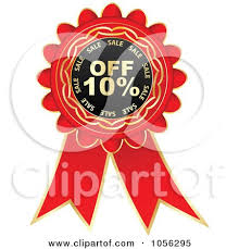 discount ribbon royalty free vector clip illustration of a and gold 10