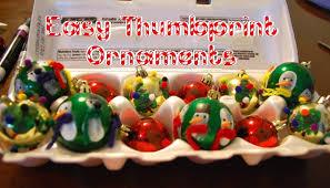 easy thumbprint ornaments imagine