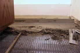 bathroom floor tile underlayment room design ideas