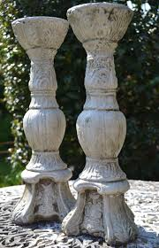 candlestick antique style garden ornament
