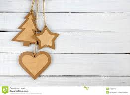 paper christmas decorations on wood stock photo image 34880370