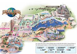 Universal Orlando Map 2015 by