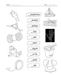 fill in the blank letter x printable coloring worksheet
