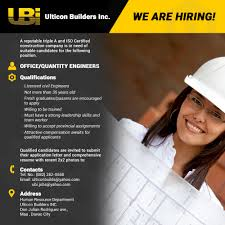 application letter civil engineering fresh graduate now hiring office quantity engineers ulticon builders inc