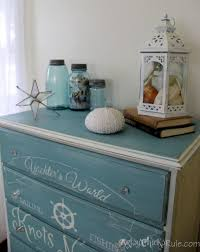 themed dresser coastal themed chest w custom graphics sloan chalk paint