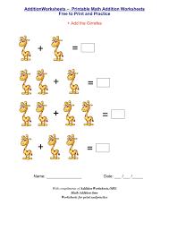 addition and subtraction worksheets for kindergarten worksheets