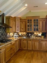 what color backsplash with wood cabinets 33 best ideas hickory cabinets for naturally beautiful kitchen