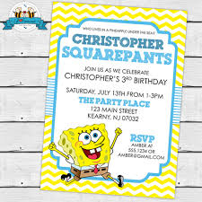 spongebob birthday invitations 28 images spongebob squarepants