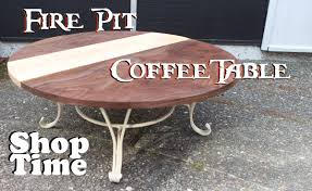 Firepit Coffee Table Reclaimed Pit Coffee Table