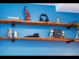 How To Make Wall Shelves How To Make Rustic Industrial Style Wall Shelves Youtube