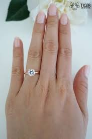 7mm diamond 1 5 carat 7mm solitaire engagement ring by tigergemstones