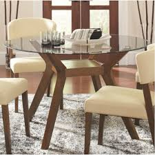 Dining Room Table And Chairs For Small Spaces Brown Glass Dining - Round glass kitchen table sets