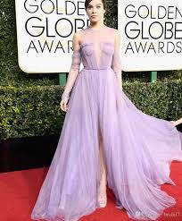 light purple long dress 2017 hailee steinfeld light purple evening dresses with pleats o