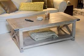 Coffee Tables Plans White Rustic X Coffee Table With Bread Boards Diy Projects