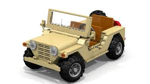 military jeep tan military m151 mutt needs your support to be immortalized in lego