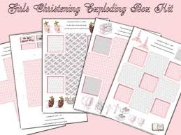 girls christening exploding box card kit cup113015 376