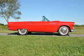 1955 ford thunderbird convertible red 1