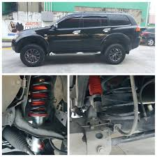 lifted mitsubishi montero nam shocks by profender home facebook