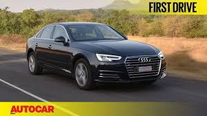 audi a4 audi a4 35 tdi first drive autocar india youtube