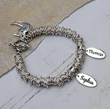 Name Charm Personalised Sterling Silver Name Charm Bracelet Indivijewels