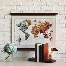 Canvas Map Of The World by Butterfly World Map Art Uncommongoods