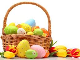 easter egg basket easter eggs basket free photo iso republic