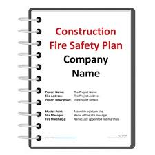 construction fire safety plan template darley pcm