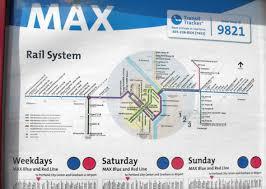 portland light rail map max map 2009